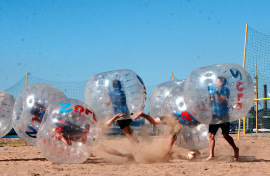 Riga Bubble Football Activity | ExperienceBaltics.com
